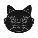 animal, cat, domestic, muzzle, pet, zoo icon