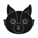 animal, muzzle, predator, wild, wolf, zoo icon