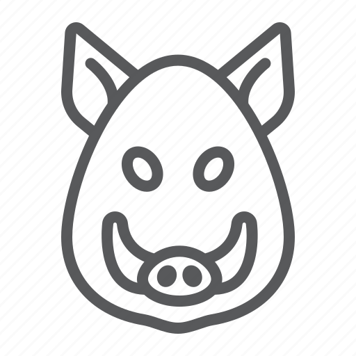 animal, boar, head, logo, pig, wild, zoo icon