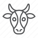 animal, beef, cow, head, logo, wild, zoo icon