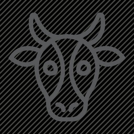 animal, beef, cow, head, logo, wild, zoo icon