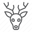 animal, deer, head, logo, reindeer, wild, zoo icon