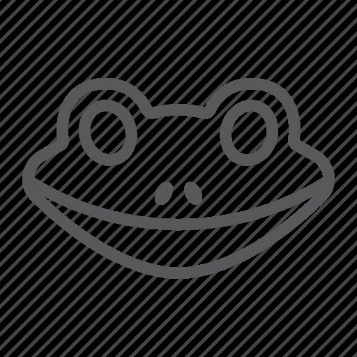 Amphibian, animal, frog, head, logo, wild, zoo icon - Download on Iconfinder