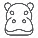 animal, head, hippo, hippopotamus, logo, wild, zoo