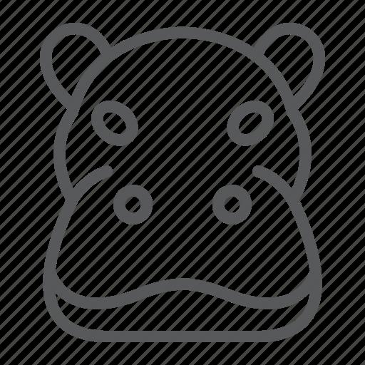 animal, head, hippo, hippopotamus, logo, wild, zoo icon