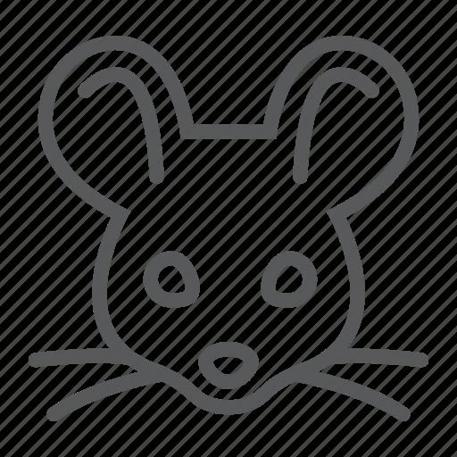 animal, head, logo, mouse, rat, wild, zoo icon