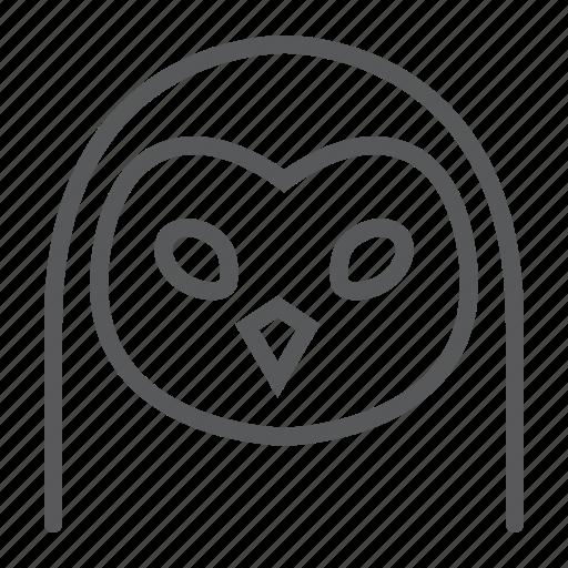 animal, bird, head, logo, owl, wild, zoo icon