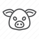 animal, head, logo, pig, pork, wild, zoo icon