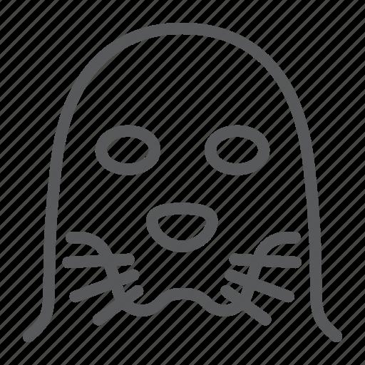 animal, head, logo, sea, seal, wild, zoo icon
