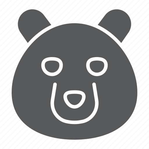 animal, bear, grizzly, head, logo, wild, zoo icon