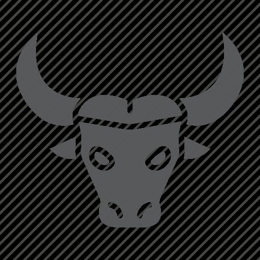 animal, bison, buffalo, head, logo, wild, zoo icon