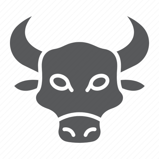 animal, bull, cow, head, logo, wild, zoo icon