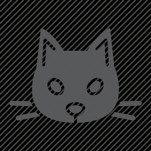 animal, cat, head, logo, pet, wild, zoo icon