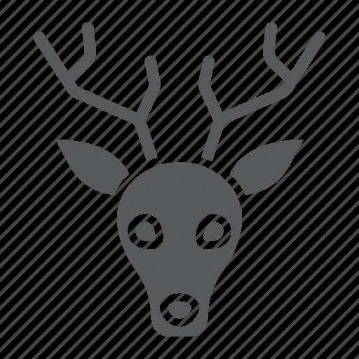 animal, deer, head, logo, reindeer, wild, zoo icon