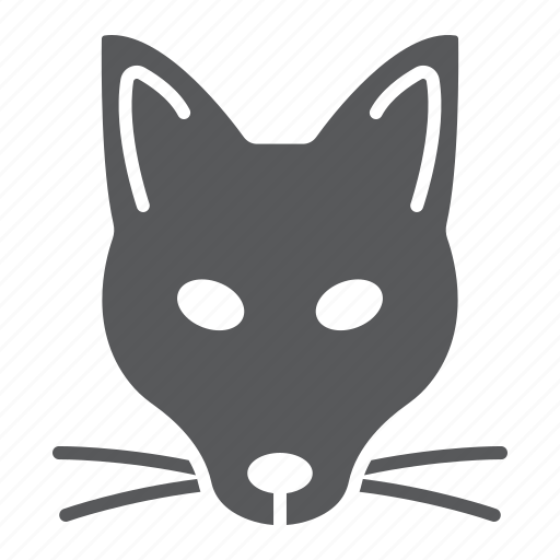 animal, fox, head, logo, mascot, wild, zoo icon