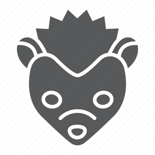 animal, head, hedgehog, logo, pet, wild, zoo icon