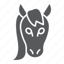 animal, head, horse, logo, mustang, wild, zoo icon