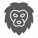 animal, head, king, lion, logo, wild, zoo icon