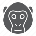 animal, head, logo, monkey, simian, wild, zoo icon