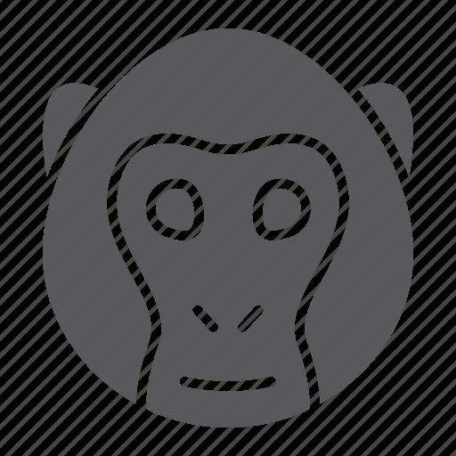 animal, head, logo, monkey, simian, wild, zoo icon