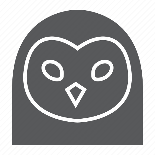 animal, bird, head, logo, owl, wild, zoo icon