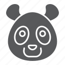 animal, bear, head, logo, panda, wild, zoo icon