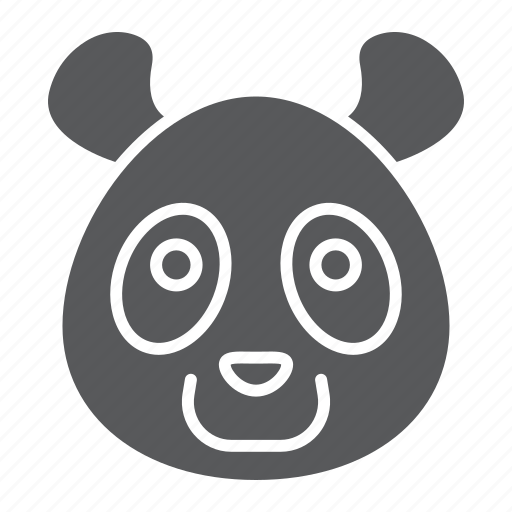 animal, bear, head, logo, panda, wild, zoo icon