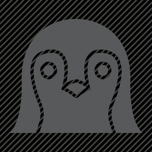 animal, bird, head, logo, penguin, wild, zoo icon