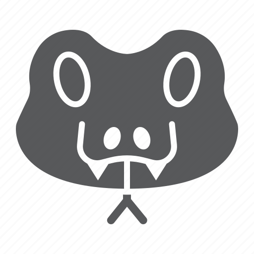 animal, head, logo, reptile, snake, wild, zoo icon