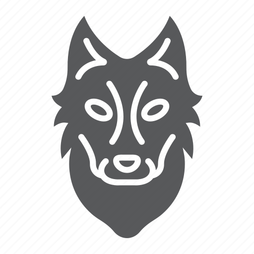 animal, dog, head, logo, wild, wolf, zoo icon