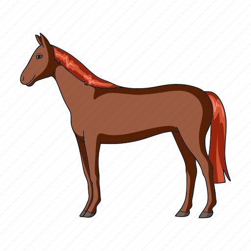 animal, herbivore, horse, mammal, pet, ungulate, zoo icon