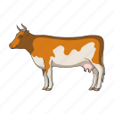 animal, cow, herbivore, mammal, pet, ungulate, zoo icon
