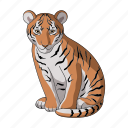 animal, cat, mammal, predator, tiger, wild, zoo icon