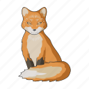 animal, fox, mammal, predator, wild, zoo icon