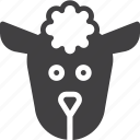 head, mutton, sheep, wool icon