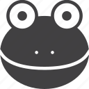 amphibian, frog, head icon