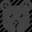 bear, face, head icon
