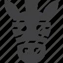 head, safari, zebra, zoo icon