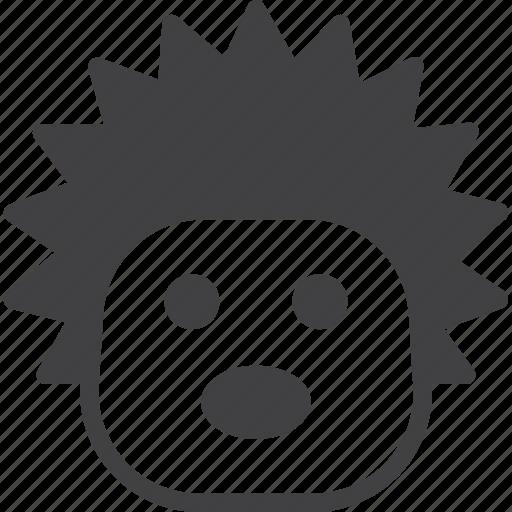 head, hedgehog, urchin icon