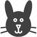 bunny, head, rabbit icon