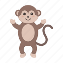 animal, cute, monkey, toy icon