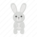 animal, hare, rabbit, cute, toy icon