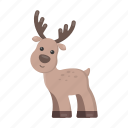 animal, toy, deer, antlers, cute icon
