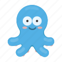 animal, cute, octopus, poulpe, toy icon