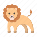 animal, cute, lion, toy icon