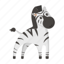african, animal, cute, toy, zebra icon