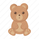 animal, bear, cute, toy icon