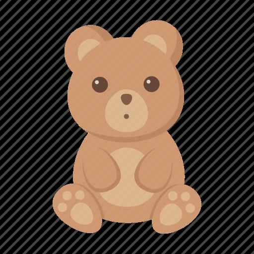 animal, bear, cute, toy icon