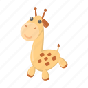 animal, cute, giraffe, toy icon