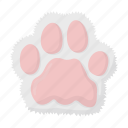 animal, footprint, paw, imprint, cat